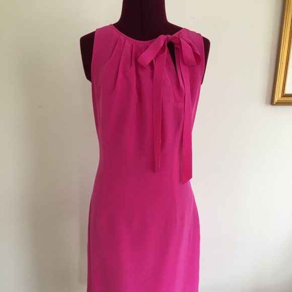 45c689810fdc80 Ann Taylor Dresses & Skirts - Ann Taylor vivid pink silk dress